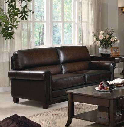 Coaster 502981  Stationary Leather Match Sofa