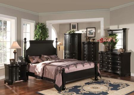 Yuan Tai BA2101KTVSET Bayle Series 5 Piece Bedroom Set
