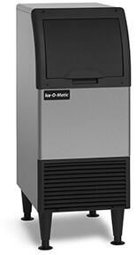 Ice-O-Matic CIU0xxFA Self-Contained Cube Ice Machine with Integrated Storage, ADA Floor-Mount Kits, Filter Free Air, Cuber Evaporator, in Stainless Steel