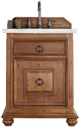 """James Martin Mykonos Collection 550-V26-CIN- 26"""" Cinnamon Single Vanity with One Drawer, One Door, Antique Iron Hardware and"""