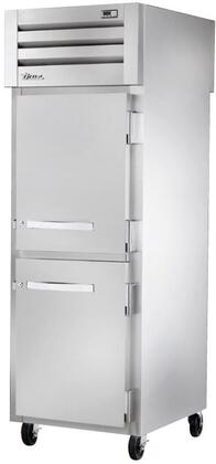 True STG1RPT-2HS Spec Series Pass-Thru Refrigerator with 31 Cu. Ft. Capacity, LED Lighting and Solid Half Front and Solid Rear Swing-Doors