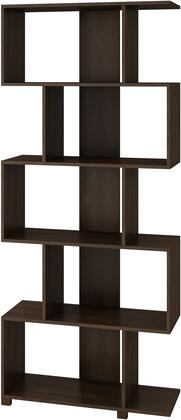 """Accentuations Petrolina Collection 18AMCXXX 31"""" Bookcase with 5 Zig-Zag Shelves and Modern Style in"""