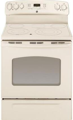 GE JB705TTCC  Electric Freestanding Range with Smoothtop Cooktop, 5.3 cu. ft. Primary Oven Capacity, Warming in Bisque