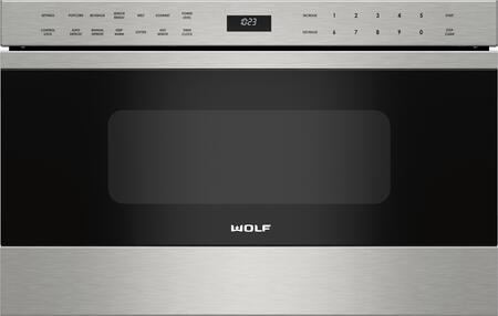 Wolf MDTES Transitional Drawer Microwave with 1.2 cu. ft. Capacity, Control Panel Lock, Sensor Cooking, Keep Warm Mode, and Gourmet Mode, in Stainless Steel