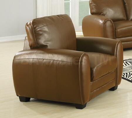 Acme Furniture 15242 Amber Series Bonded Leather with Wood Frame in Caramel