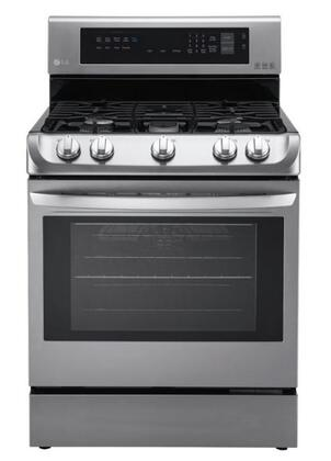 "LG LRG4111S 30"" Freestanding Gas Range Oven with ProBake Convection and EasyClean  Technology, 6.3 cu.ft. Capacity with Storage Drawer"