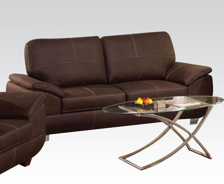 Acme Furniture Corliss Collection Sofa with Stitched Detailing, Padded Arms and Nubuck Upholstery