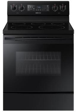 "Samsung NE59M4320Sx 30"" Freestanding Electric Range With Fan Convection, 5.9 cu. ft. Capacity, Warming Center, Hidden Bake Element, Storage Drawer, Wide View Window, in"