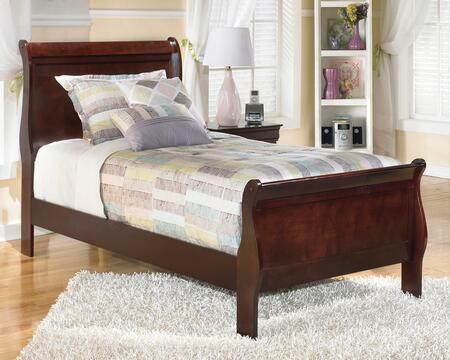 Signature Design by Ashley B376SLEIGHBED Alisdair Collection x Size Sleigh Bed in Dark Brown