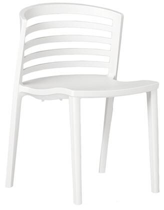 ITALMODERN L3602WHT Venezia Series Modern Not Upholstered Plastic Frame Dining Room Chair