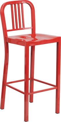 Flash Furniture CH3120030REDGG Residential Not Upholstered Bar Stool