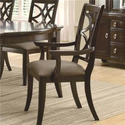 Coaster 103533 Meredith Series Transitional Fabric Wood Frame Dining Room Chair