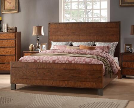 Legends Furniture Crossgrain Collection ZCGN-700BED X Size Bed in Toffee