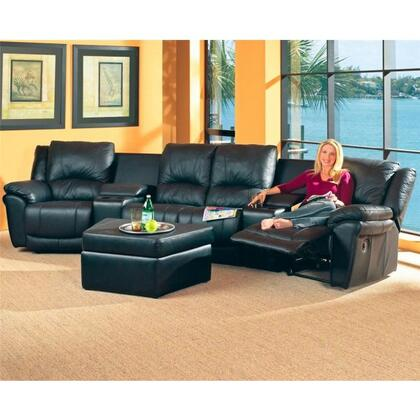 Coaster 7575SEC  Reclining Leather Match Sofa