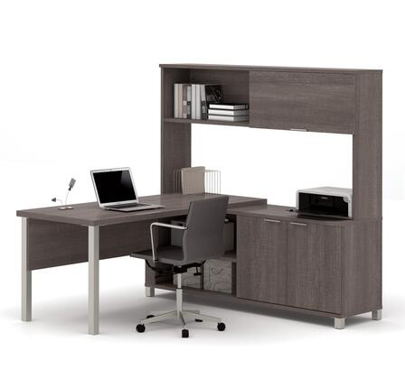 Bestar Furniture 120864 Pro-Linea L-Desk with hutch