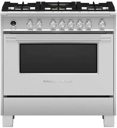 Fisher Paykel Or36scg6x1 Clic Series 36 Inch Stainless Steel Dual Fuel Convection Freestanding Range