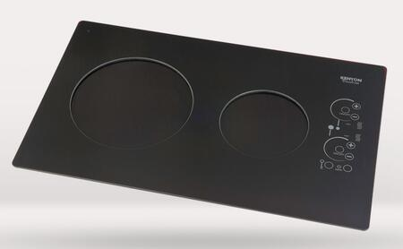 "Kenyon B8010 24"" Silken Series 240 Volt Induction Cooktop with 2 Elements, Lite-Touch Control, Indicator Lights, Easy Clean Up, Spills and Pot Retention, in"