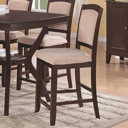 Coaster 102769 Memphis Series Contemporary Fabric Wood Frame Dining Room Chair