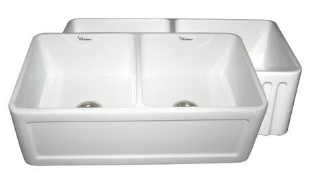 Whitehaus WHFLCON3318WHITE White Kitchen Sink