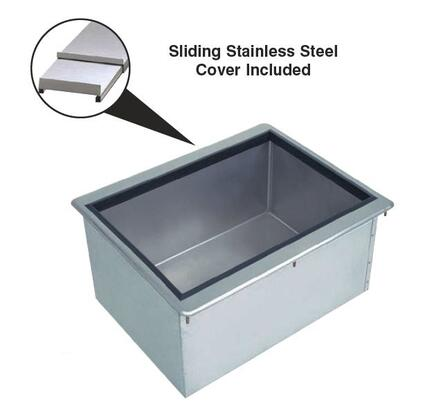 """Advance Tabco D-IBL-X 10"""" Deep Drop-In Ice Bin with Sliding Cover in Stainless Steel"""