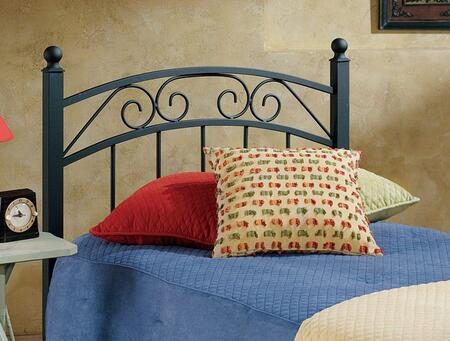 Hillsdale Furniture 1122HR Willow Open-Frame Headboard with Rails Included, Scrollwork, Straight Spindles and Metal Construction in Textured Black Color