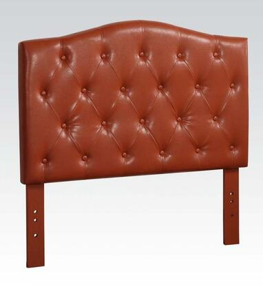 Acme Furniture 391R Viola Size Headboard with Button Tufting Detail and PU Leather Upholstery in Red