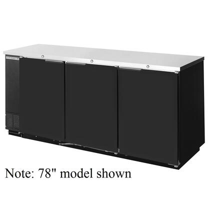 BB72R-1 Remote Back Bar Cooler in [Color] with 3 Solid Self-closing Doors, 6 Shelves