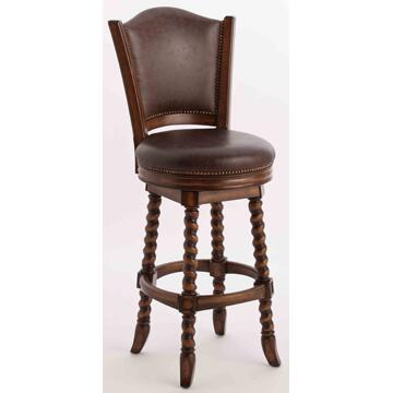 Ambella 20017515001 Dawson Series Residential Leather Upholstered Bar Stool