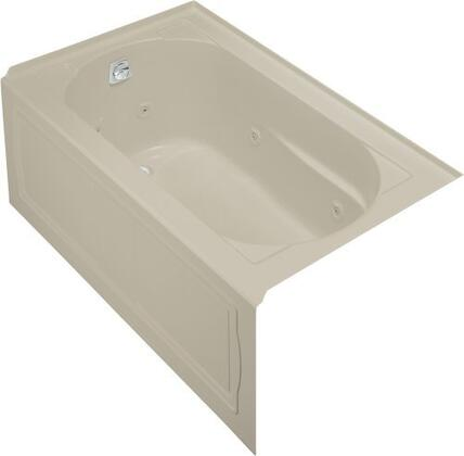 "Kohler K-1357-H Devonshire Collection 60"" Three Wall Alcove Jetted Bath Tub with:"