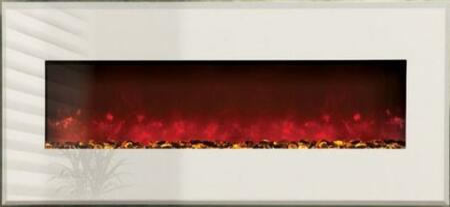 Amantii WMBI435123GALLERYWHITE WMBI Series Wall Mountable Electric Fireplace