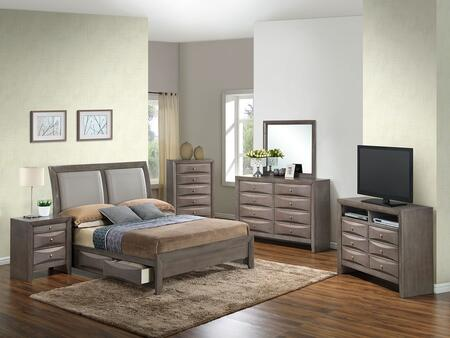 Glory Furniture G1505DDFSB2CHDMNTV2 G1505 Full Bedroom Sets