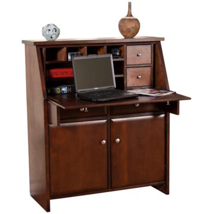 """Sunny Designs Collection 2939X 38"""" Laptop Desk with Drop Leaf, 2 Utility Drawers and Bun Feet in"""