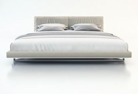 Modloft MD327QGRY Broome Series  Queen Size Platform Bed