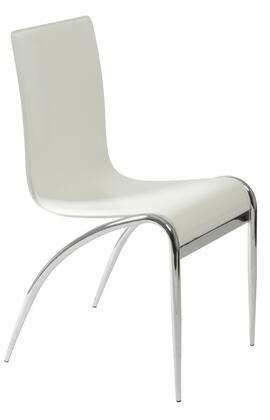 Euro Style 03185 Grace Series Leather Metal Frame Dining Room Chair
