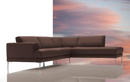 VIG Furniture VGDIMIRAGEBRN Dima Mirage Series Stationary Leather Sofa