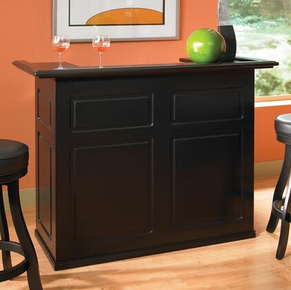 "American Heritage Trenton Series 600037XXXRF 58"" Bar with Open Space for a Fridge, Storage Shelving, and Decorative Front Panels"