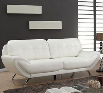 Furniture of America Reanna CM6414XX-SF Sofa with Tufted Detailing, Stitched Detailing and Breathable Leatherette in