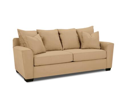 """Klaussner Heather Collection E56044-S- 86"""" Sofa with Track Arms, Four Back Pillows, Two Arm Pillows and Fabric Upholstery in"""
