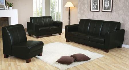 Yuan Tai WN889BKSET3 Leather Living Room Set