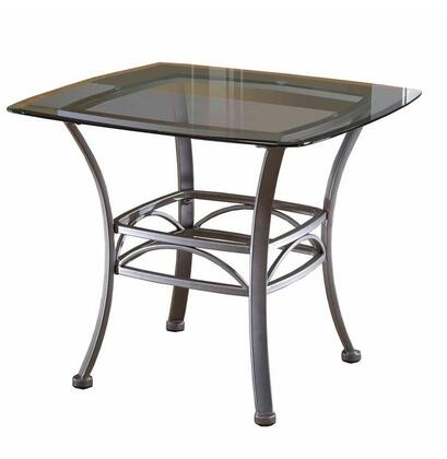 Hillsdale Furniture 4885OTE Abbington Series Traditional Metal Square None Drawers End Table
