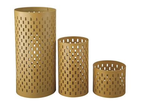 Signature Design by Ashley Caelan A200015C Set of 3 Candle Holders with 1 Large, 1 Medium and 1 Small Holder in