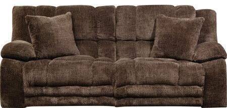 "Catnapper Branson Collection 2001- 93"" Lay Flat Reclining Sofa with Extended Ottoman, Two Toss Pillows, Pillow Top Arms and Polyester Fabric Upholstery in"