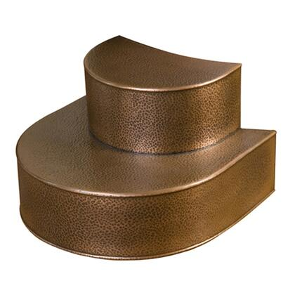 Barclay COSTP- X Copper Steps for the Priam Collection Tubs in a Hammered Antique Copper Finish