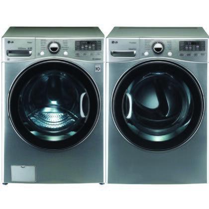 LG WM3470HVADLGX3471VPAIR TurboWash Washing Machines