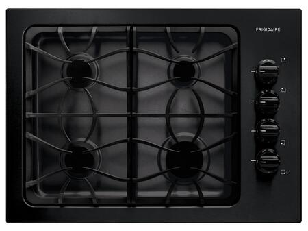 "Frigidaire FFGC3025L 30"" Sealed Burner Gas Cooktop With 4 Sealed Burners, Ready-Select Controls, Electronic Pilotless Ignition, Low Simmer Burner, Cast Iron Grates, Electronic Ignition, In"