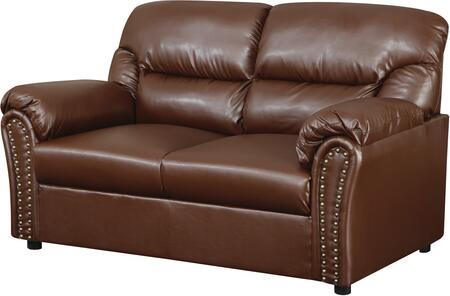 Glory Furniture G260L Bonded Leather Stationary Loveseat