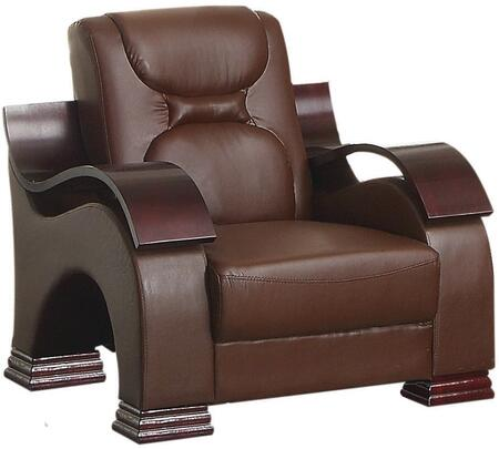 Glory Furniture G480C Faux Leather Armchair in Dark Brown