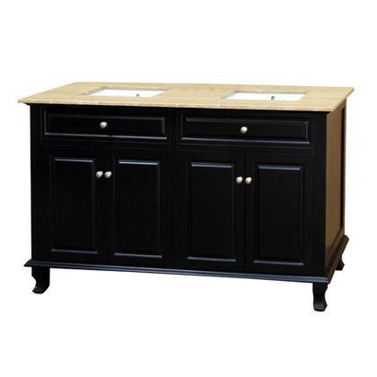 """Bellaterra Home 6032162XX 62"""" Double Sink Vanity - Wood"""