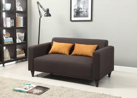 Acme Furniture 57100 Clovis Series Fabric Stationary with Wood Frame Loveseat