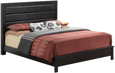Glory Furniture G2450AKB Aries Series  King Size Panel Bed
